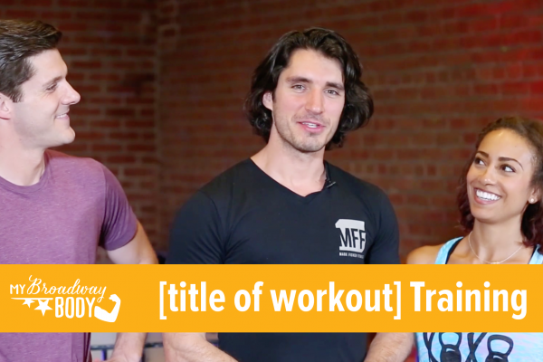 MBB [title of workout] Training