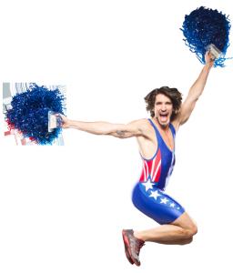 Mark Fisher cheerleader